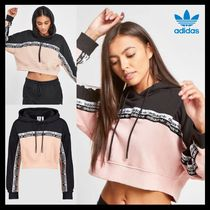 adidas Crew Neck Short Street Style Long Sleeves Plain