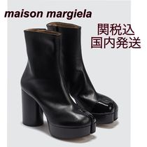 Maison Martin Margiela Tabi Platform Leather High Heel Boots