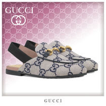 GUCCI Princetown Unisex Blended Fabrics Kids Girl Sandals