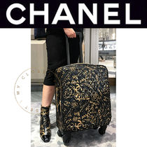 CHANEL TRAVEL Unisex Street Style Soft Type Carry-on Luggage & Travel Bags