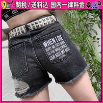 DOLLS KILL Short Casual Style Denim Denim & Cotton Shorts