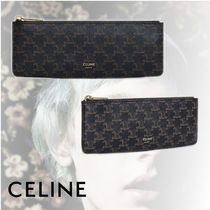 CELINE Triomphe Canvas Leather Stationary