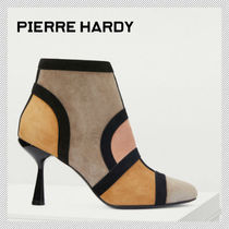 Pierre Hardy Suede Plain Pin Heels Elegant Style Ankle & Booties Boots