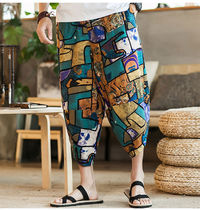 Other Plaid Patterns Camouflage Cotton Sarouel Shorts