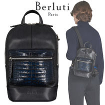 Berluti Crocodile Blended Fabrics Street Style Other Animal Patterns