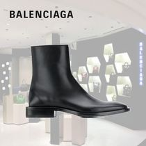 BALENCIAGA Plain Leather Engineer Boots
