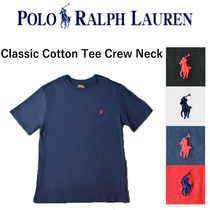 POLO RALPH LAUREN Crew Neck Unisex Street Style Short Sleeves T-Shirts