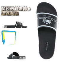 Dolce & Gabbana Street Style Leather Shower Shoes Shower Sandals