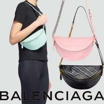 BALENCIAGA Casual Style Street Style 2WAY Chain Plain Leather