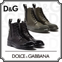Dolce & Gabbana Plain Leather Engineer Boots