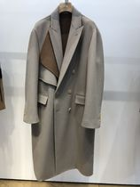 Christian Dior Wool Bi-color Plain Chester Coats
