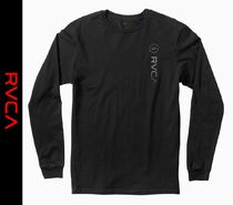 RVCA Crew Neck Street Style Long Sleeves Long Sleeve T-Shirts