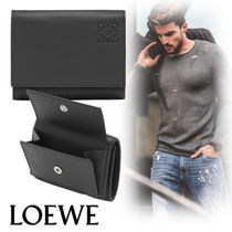 LOEWE Unisex Leather Folding Wallets