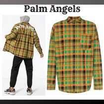 Palm Angels Tartan Oversized Track Jackets