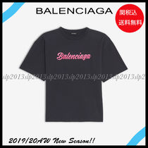 BALENCIAGA Unisex Blended Fabrics Cotton Short Sleeves T-Shirts