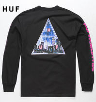 HUF Crew Neck Street Style Long Sleeves Long Sleeve T-Shirts