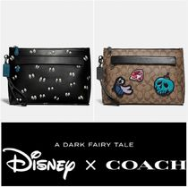 Coach Street Style Collaboration Bag in Bag Leather Clutches