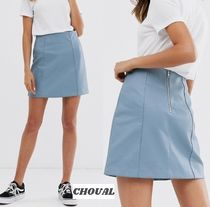 New Look Short Plain Skirts