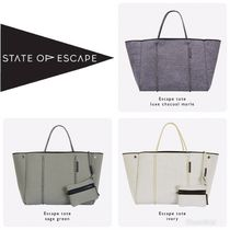 State of Escape Casual Style Unisex A4 Plain Totes