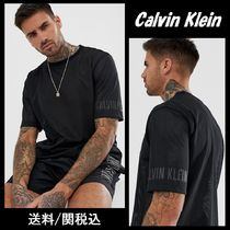 Calvin Klein Crew Neck Plain Short Sleeves Crew Neck T-Shirts