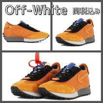 Off-White Blended Fabrics Street Style Leather Sneakers