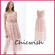 Chicwish Sleeveless Long Party Style With Jewels Slip Dresses Dresses