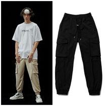 ADD SEOUL Unisex Street Style Cotton Cargo Pants