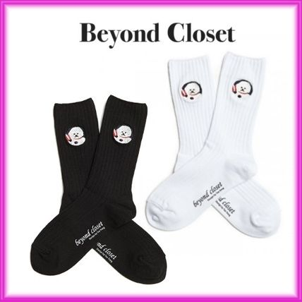Unisex Street Style Plain Cotton Socks & Tights