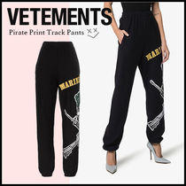 VETEMENTS Casual Style Street Style Cotton Long Sarouel Pants
