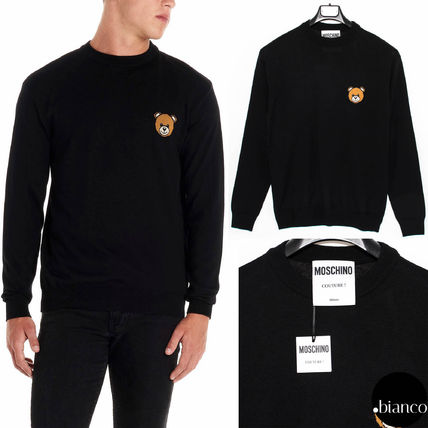 Crew Neck Wool Long Sleeves Knits & Sweaters