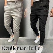 Gentleman To Be Street Style Chain Cotton Skinny Fit Pants