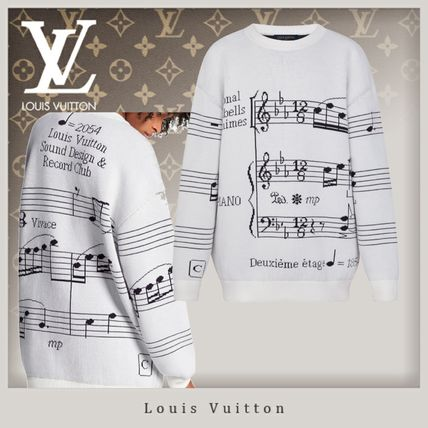 Louis Vuitton Crew Neck Unisex Wool Street Style Long Sleeves Oversized