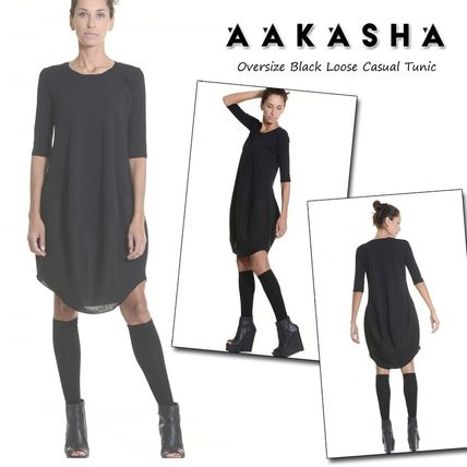 Aakasha U-Neck Cropped Plain Medium Tunics