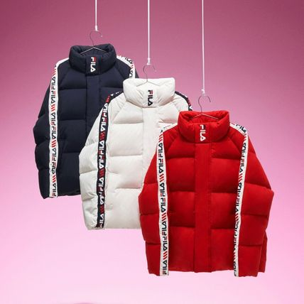 Short Unisex Nylon Street Style Plain Down Jackets