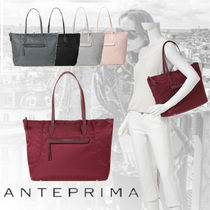 ANTEPRIMA Casual Style Nylon Blended Fabrics A4 Plain Totes