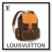 Louis Vuitton Monogram Canvas Blended Fabrics Street Style A4 2WAY