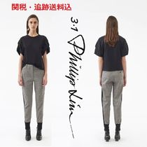 3.1 Phillip Lim Glen Patterns Wool Blended Fabrics Long Pants