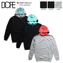DOPE couture Pullovers Unisex Sweat Bi-color Long Sleeves Oversized Logo