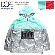 DOPE couture Short Unisex Nylon Street Style Bi-color Windbreaker