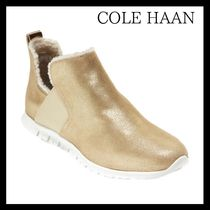 Cole Haan ZEROGRAND Plain Toe Rubber Sole Casual Style Suede Plain