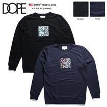 DOPE couture Crew Neck Pullovers Unisex Sweat Street Style Bi-color