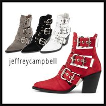 Jeffrey Campbell Cowboy Boots Casual Style Street Style Plain Leather