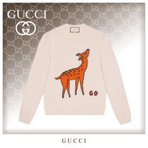 GUCCI Crew Neck Unisex Wool Long Sleeves Knits & Sweaters