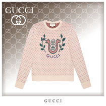GUCCI Crew Neck Dots Unisex Wool Long Sleeves Knits & Sweaters