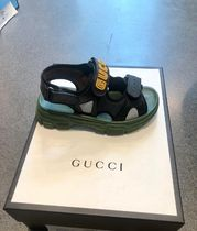 GUCCI Blended Fabrics Street Style Plain Leather Sport Sandals