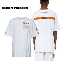 Heron Preston Crew Neck Unisex Street Style Plain Short Sleeves