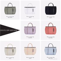 State of Escape Casual Style 2WAY Plain Handmade Shoulder Bags