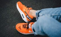 Nike AIR MAX 1 Rubber Sole Lace-up Unisex Suede Street Style