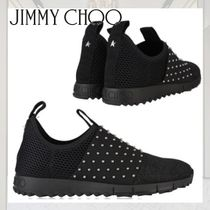 Jimmy Choo Star Suede Blended Fabrics Studded Street Style Plain