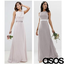 ASOS Maxi Sleeveless Collaboration Plain Long Dresses